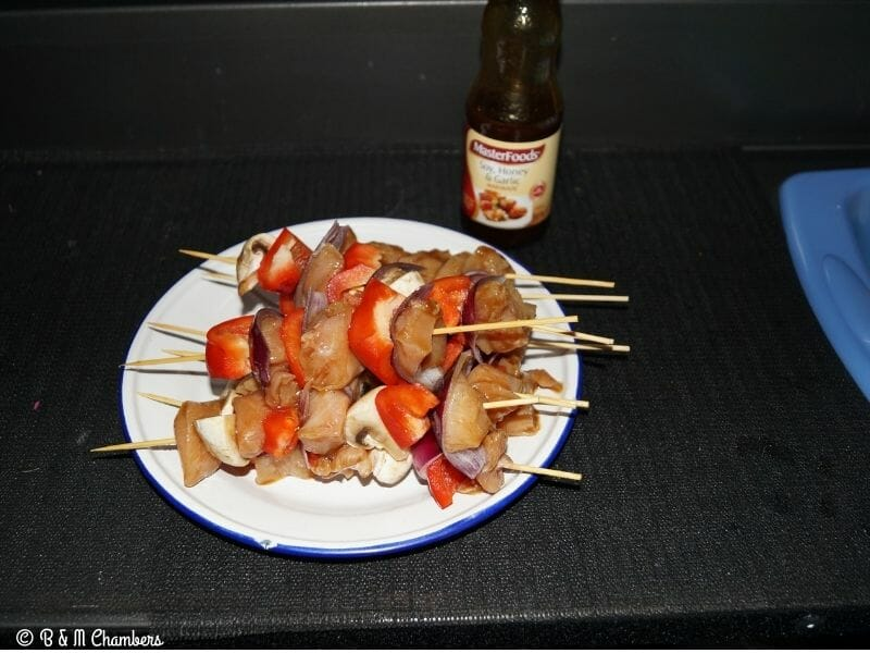 Chicken and Veg Kebabs