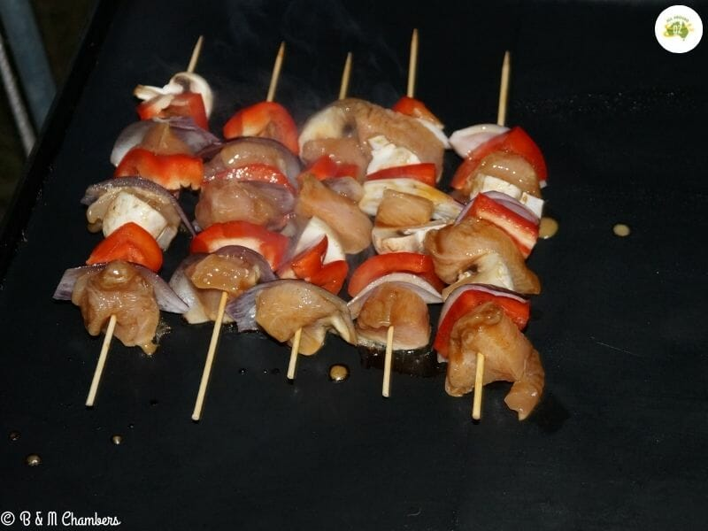 Chicken and Veg Kebabs - Cooking