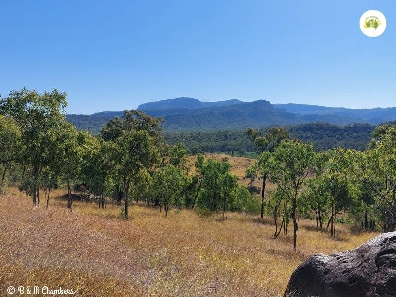Campsite views from Sandstone Park