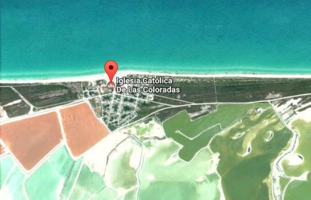 ピンクラグーン(ピンクレイク)の場所(ラスコロラダス村の地図)