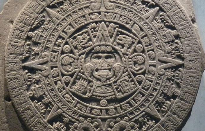 国立人類学博物館にあるアステカカレンダー(太陽)