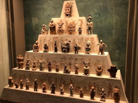 メキシコシティの国立人類学博物館にある神様の土偶たち