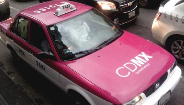 メキシコシティーのタクシー