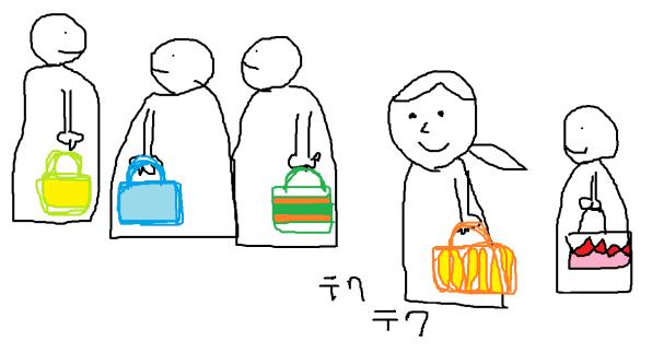 普段使いのかごバッグ