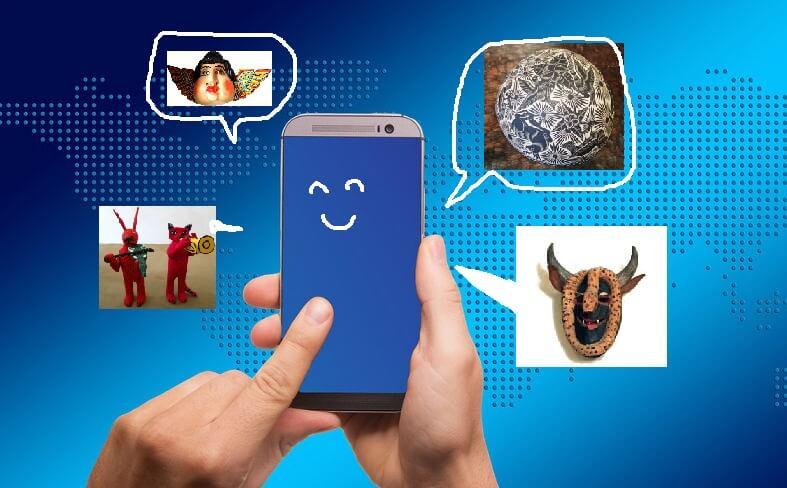 携帯電話と職人