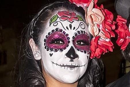 メキシコ流死者の日のスカルメイク