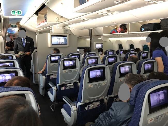アエロメヒコ飛行機内