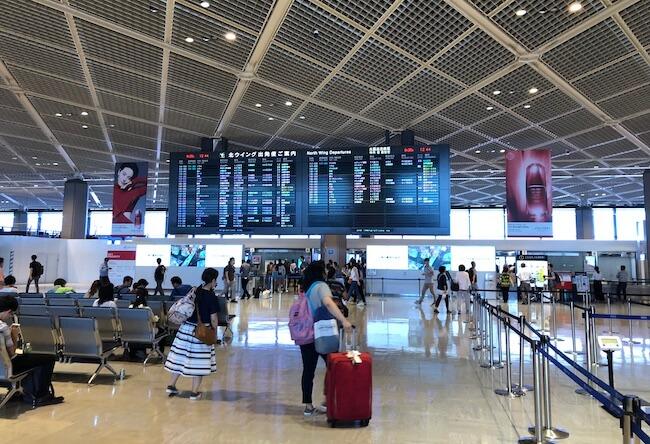 成田空港の出発ゲート