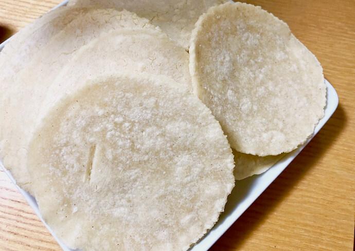 トウモロコシ粉「マサ」で作る本格トルティーヤ1