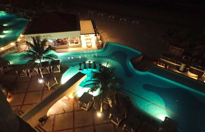ハイアットジラーラ部屋から見た夜景