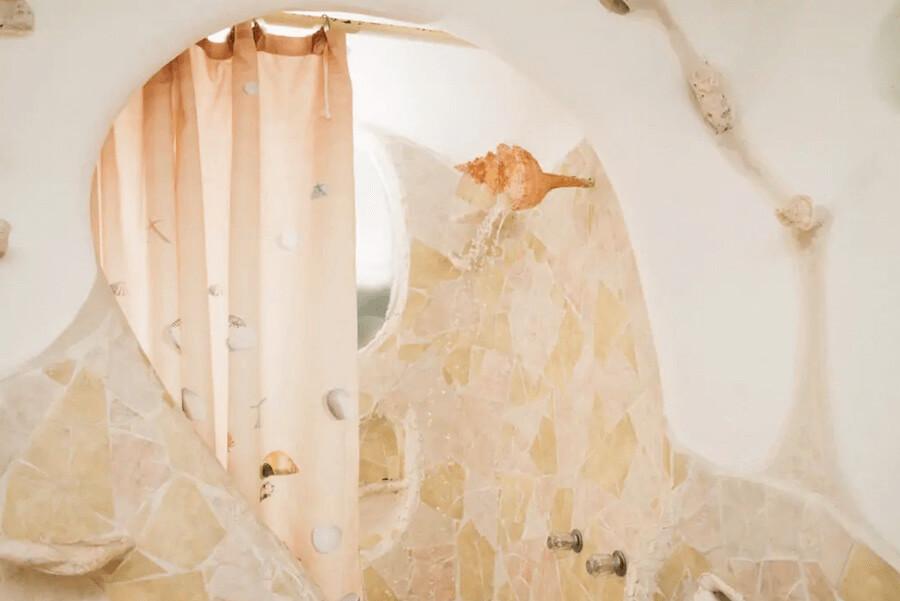 メキシコ、イスラムへーレス島のシェルハウス(貝殻の家)バスルーム3