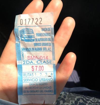サンミゲルデアジェンデの移動方法(バス)5