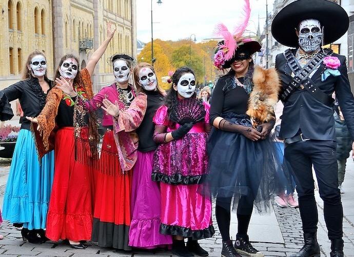 メキシコの死者の日の仮装