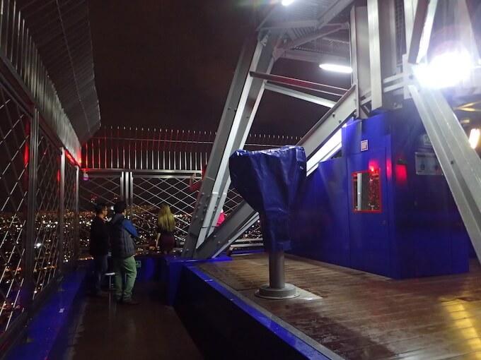 ラテンアメリカタワーの夜景(メキシコシティ)屋外展望台2