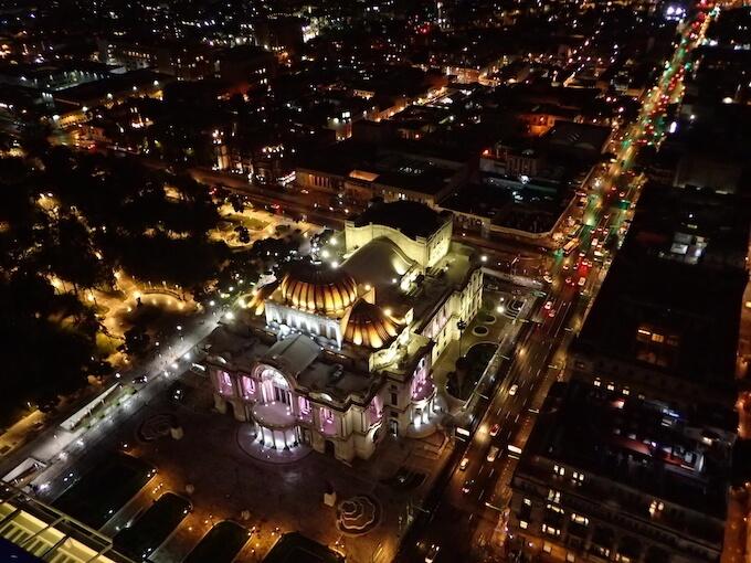 ラテンアメリカタワーの夜景(メキシコシティ)5
