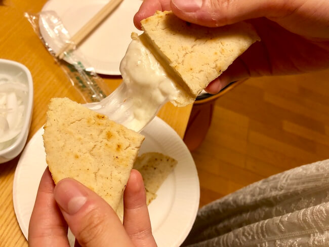 さけるチーズを使ったケッサディーヤの作り方4