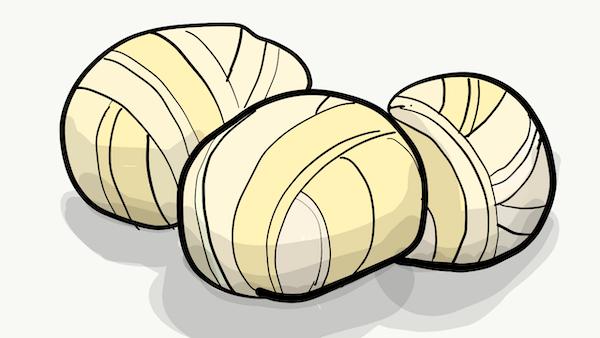 オアハカチーズのイラスト