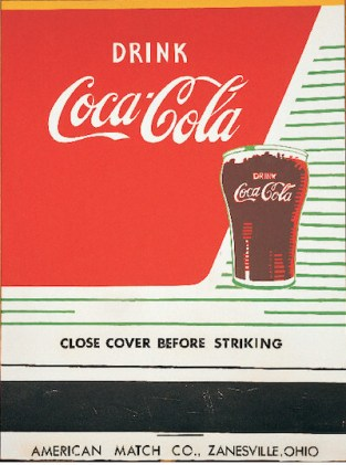 Close Cover Before Striking (Coca-Cola) (1962) by Andy Warhol アンディ・ウォーホルのコーラの作品
