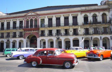 キューバのハバナの街並み