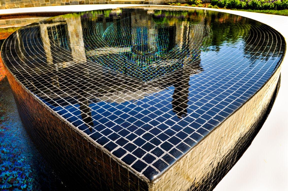 swimming pool tile installation backyard design ideas