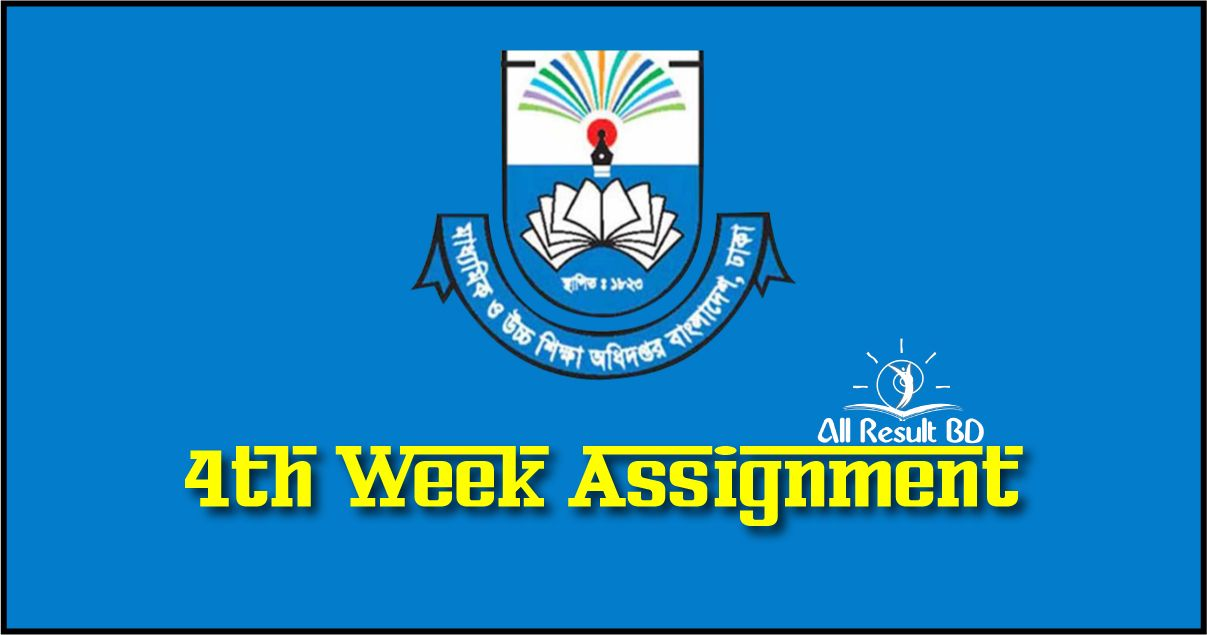 4th Week Assignment Answer