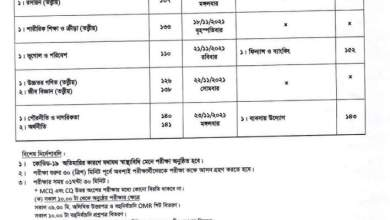 Hsc Routine 2021 Pdf Download Bangladesh New Hsc Exam Routine Of All Boards