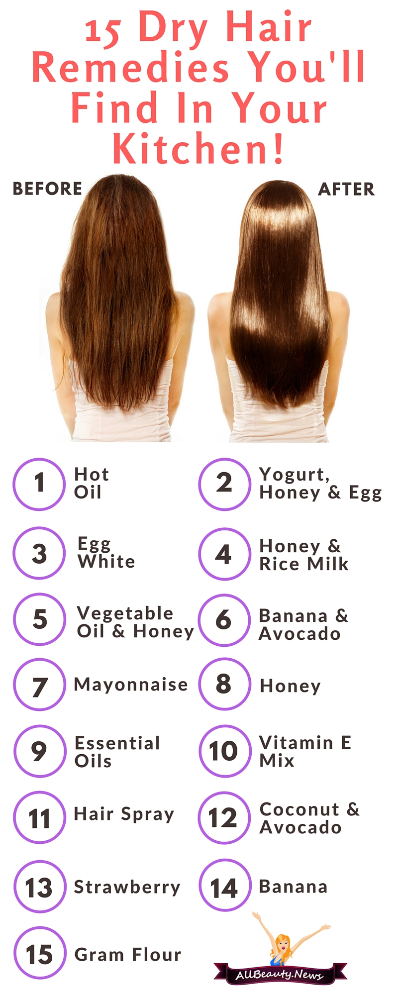 15 Dry Hair Treatments Youll Find In Your Kitchen
