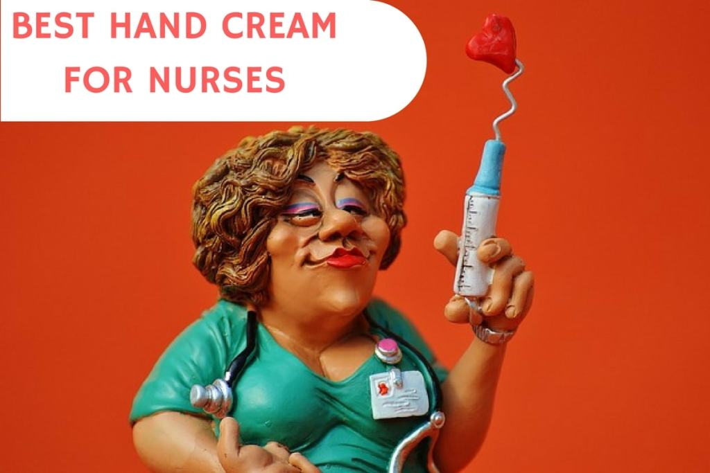 Nurse in hospital with healthy hands after using high quality hand cream