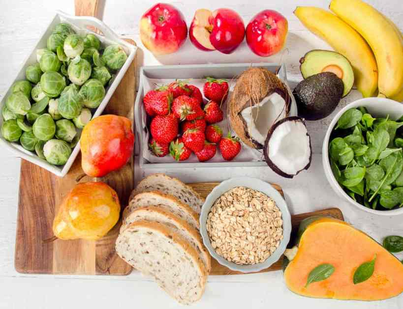 diet high in fruits and vegetables