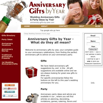 anniversary-gifts custom design template