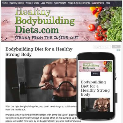 Custom website design responsive for for health and nutrition