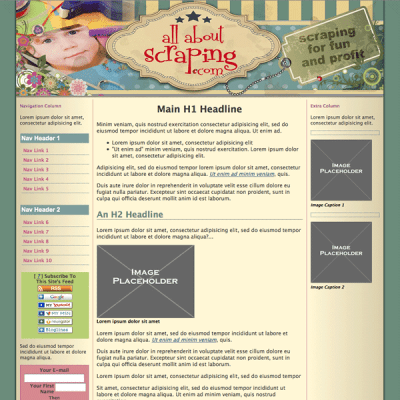 web design template and custom l&f for SBI BB2 module
