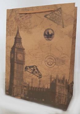 """Пакет крафтовый """"Лондон"""""""