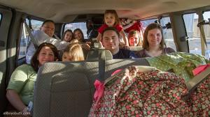 Family of 12 Travel Road Trip