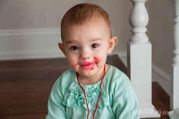 Addie with Lipstick