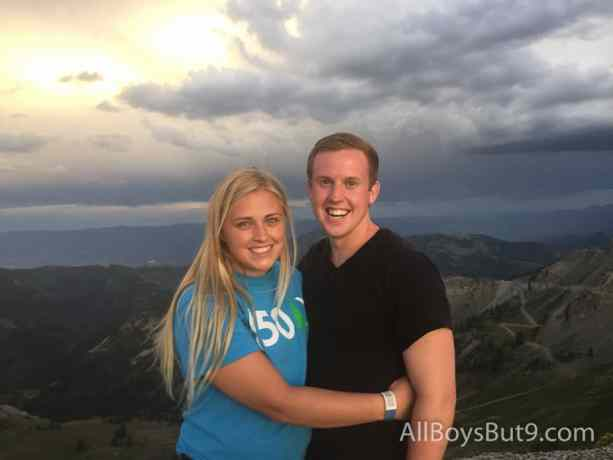 Our nephew and his new wife on top of the world!