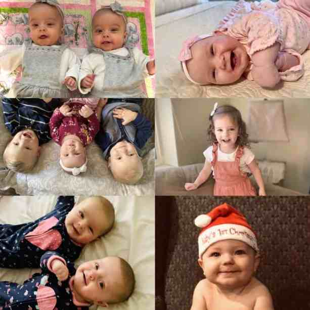 A picture of my 7 Grandbabies and 2 Grandnieces all age 2 and under!