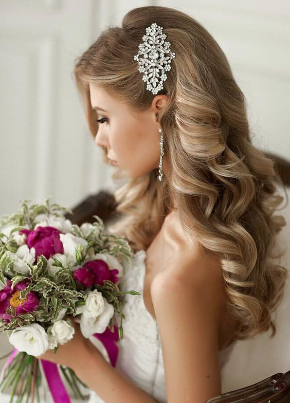 the wedding hair for the gown you ll wear