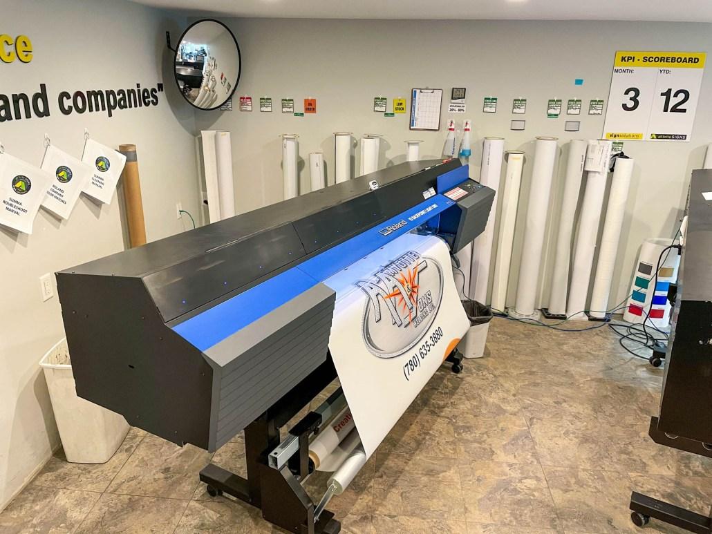 large format printer sign solutions alberta
