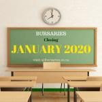 Bursaries Closing in January 2020