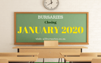 Bursaries Closing in January 2020