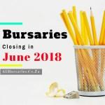 South Africa Bursaries Closing June 2018