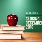 Bursaries Closing in December 2018