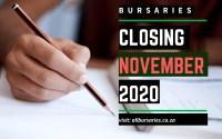 Bursaries Closing in November 2020