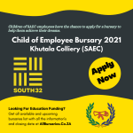 Khutala Colliery (SAEC) - Child of Employee Bursary