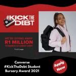 Converse #KickTheDebt Student Bursary Award