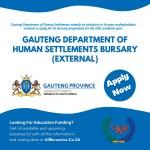 Gauteng Department of Human Settlements Bursary
