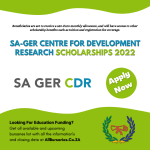 SA-GER Centre for Development Research Scholarships