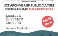 UCT Archive and Public Culture Postgraduate Bursary