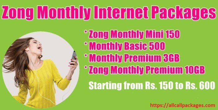 Zong Monthly 3GB Basic 500 MBs Internet Package 2018 Updated
